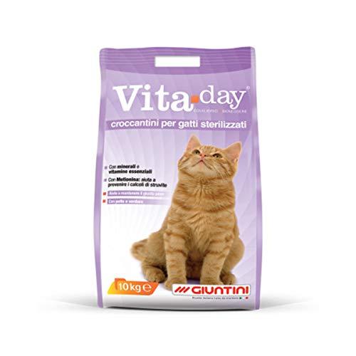 Vitaday croccantini per gatti sterilizzati Mangime completo. 1pz x 10kg