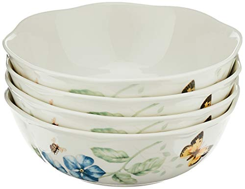 Lenox Butterfly Meadow All Purpose Bowls (Set of 4), 20 Oz, Multicolor