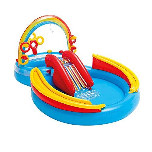 Centro juegos hinchable arcoiris, El centro de juego inflable de dinosaurio explota la piscina de la diversión del agua para los niños