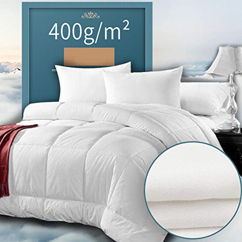 Duvets Double, Super Soft Hollowfibre Winter Warm Anti-Allergy Warm and Cosy Duck Feather Down Quilt