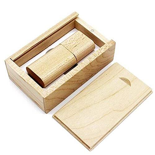 LOVEY - Chiavetta USB in legno, con scatola di legno 3.0 8GB