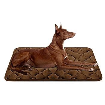 Hero Dog Panier Doux pour Chien, Lit Coussin de et Durable 107x70 cm, Tapis Antidérapant et Lavable de Chien (Brun, Grande Taille)