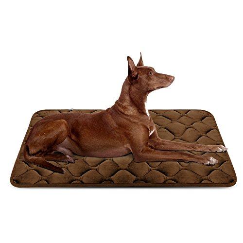 Weiche Hundebett Große Hunde Luxuriöse Hundedecken Waschbar Orthopädisches Hundekissen rutschfeste Hundematte Braun Grosse HeroDog