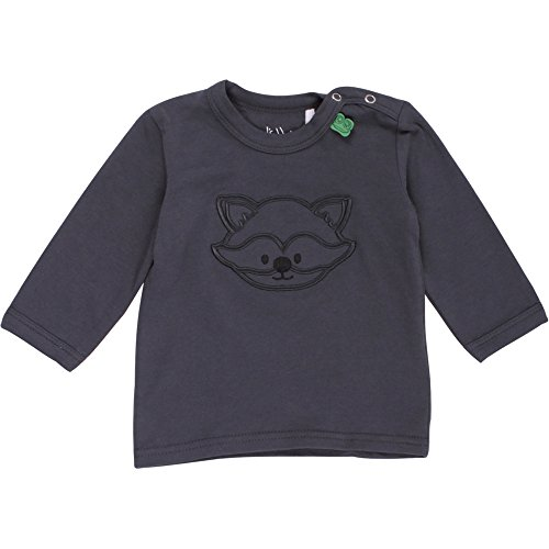 Fred'S World By Green Cotton Raccoon Front l/SL T Baby T-Shirt, Gris (Ink 019401901), 3 Mois Mixte bébé