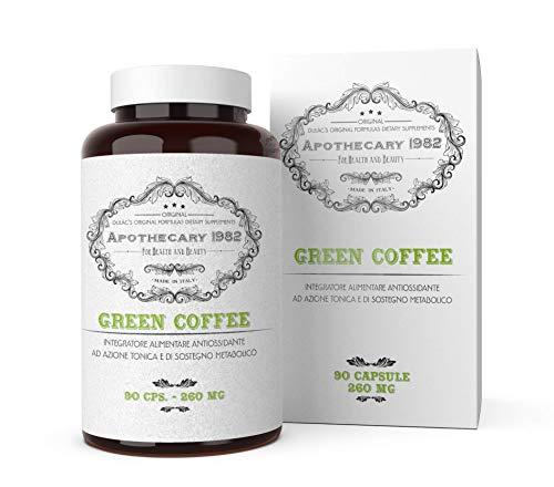 Dulàc - Apothecary 1982 - Caffè Verde - 90 cps - Antiossidante e sostegno metabolico - 100% Made in Italy - Notificato al Ministero della Salute Italiano