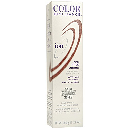Ion Color Brilliance Permanent Creme 3G Dark Golden Brown by Ion