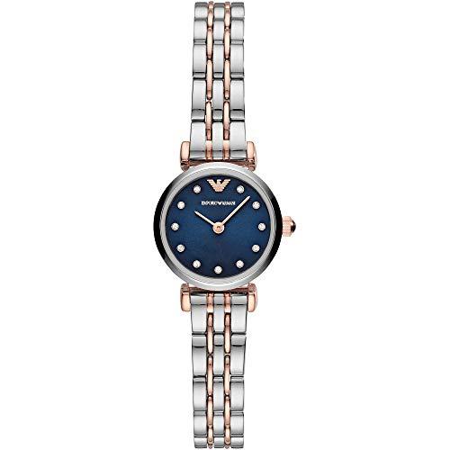 Emporio Armani dames analoog kwarts horloge met roestvrij stalen armband AR11222