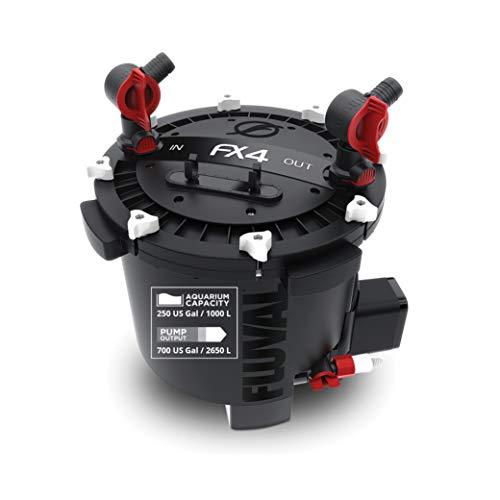 Fluval A214 FX4 Hochleistungsaußenfilter für Aquarien, 1.000 l, schwarz