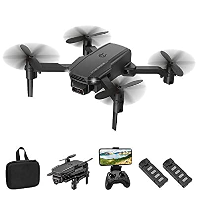 Eilsorrn Foldable Mini Drone with 4K HD Camera for Kids Adults WiFi FPV RC Quadcopter with Trajectory Flight,3D Flips,Altitude Hold,Headless Mode,G-Sensor,One Key Return,Speed Control [2 Battery Pack]