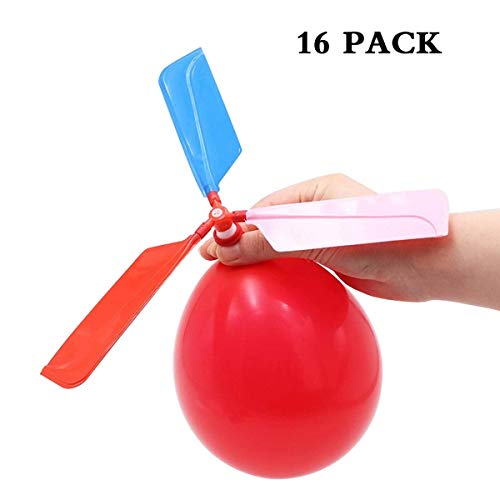 SBYURE 16 Pack Balloon Helicopter Kids Games and Party Games for Children's Day Gift,Birthday, Party Favor,Color Random
