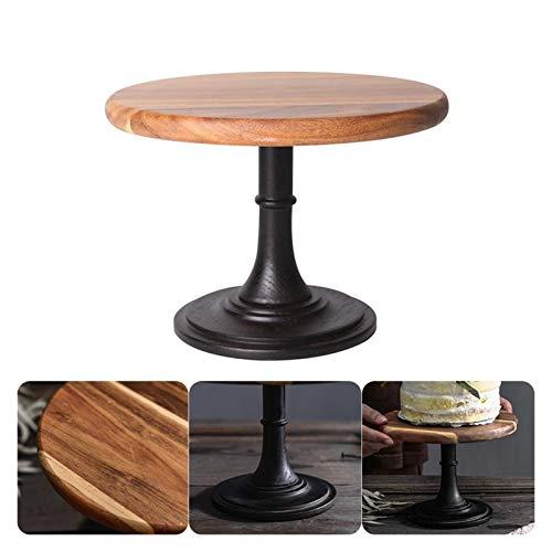 Cages Kuchen-Platten-Ständer Holzplatte Hohe Basis-Cupcake-Tellerpartyfilm-Requisiten-Dessert-Teller-Hochzeits-Tablett Dekoration Display Dropship (Size : Large)