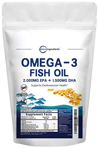 Micro Ingredients Omega-3 Fish Oil (300 Softgels)