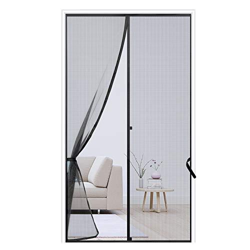 """Sunolga Magnetic Screen Door 39""""x83"""",ReinforcedFiberglass Mesh Curtain with Full Frame Hook & Loop,Hands Free- Fits Doors up to 39""""x83"""""""