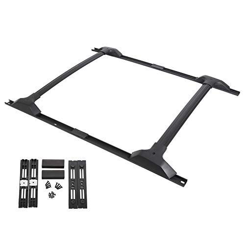 ECOTRIC Factory Style Aluminum Roof Rack Cross Bars & Side Rail Package Compatible with 2009-2017 Chevy Chevrolet Traverse (Cross Bars & Side Rails)