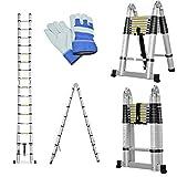 Keraiz Latest 2019 Multi-Purpose Telescopic 5 Metre Ladder