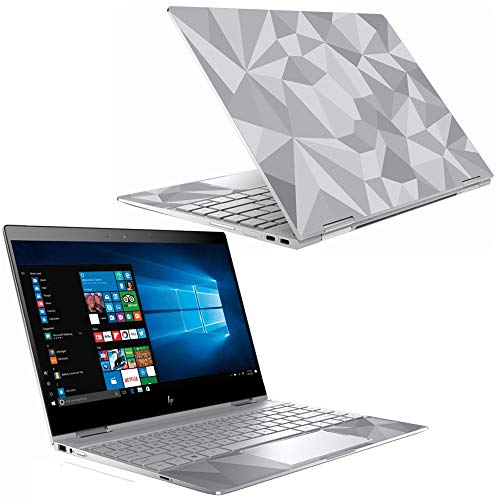 """Mightyskins Skin Compatible with Hp Spectre X360 13"""" (2018) - Gray Polygon 