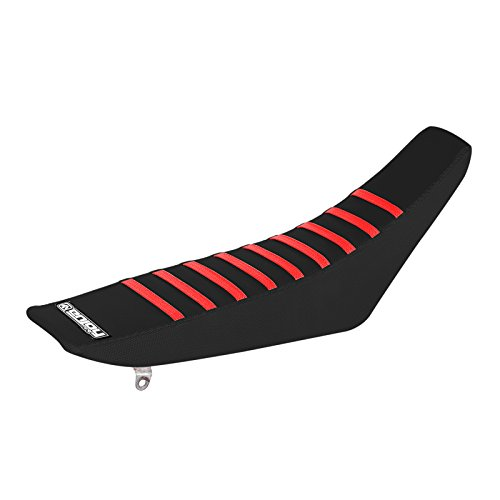 Enjoy MFG Seat Cover All Black//RED Ribs Compatible Fit for 1999-2007 TRX 400EX TRX 400 EX #203