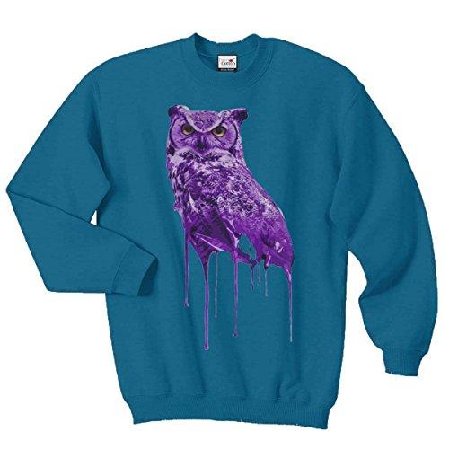 Ovoxo Sweatshirt Jumper Eule Drake Lil Wayne YMCMB Swaetshirt Fresh Dope Herren Damen Gr. M / 96,52 cm-101,60 cm, azurblau