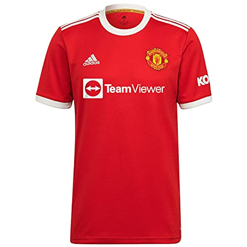 Manchester United FC Official Football Gift Mens Home Kit Shirt Large Red