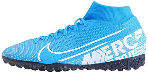 Nike Unisex-Erwachsene Superfly 7 Academy TF Fußballschuhe, Mehrfarbig (Blue Hero/White-Obsidian 414), 40 EU