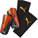 PUMA ftblNXT Team Sleeve Espinillera Fútbol, Unisex-Adult, Naranja/Negro (Shocking Orange Black White), M