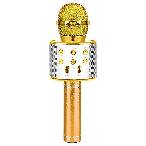 Microfono da canto per ragazzo bambino,regalo di compleanno per bambina di 5-12 anni Regalo giocattolo per bambini di 4-8 anni Microfono regalo per ragazze Microfono Bluetooth Regalo Età 4 5 6 ragazze