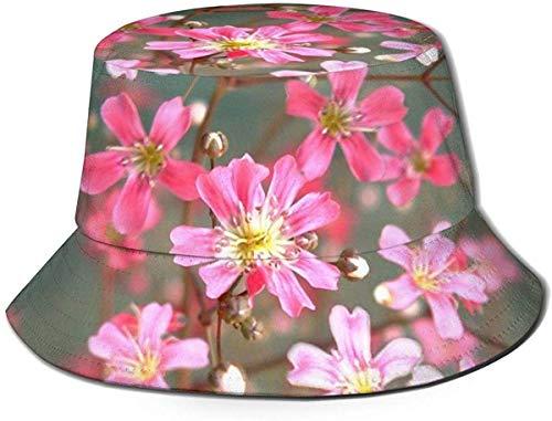 YJWLO Gypsophila Elegans Unisex Bucket Hat ripiegabile estivo Viaggio Secchio Spiaggia Cappello Pescatore Cap