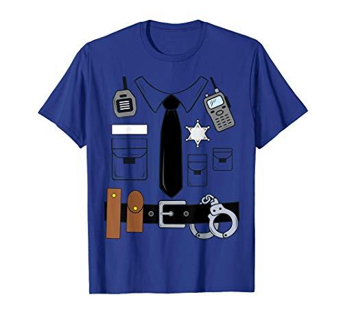 Costume Poliziotto Bambino Donna Uomo Maglietta