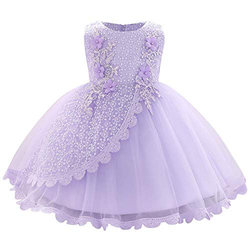 Lace Flower Girls Sequins Bowknot Tutu Dress for Kids Baby...