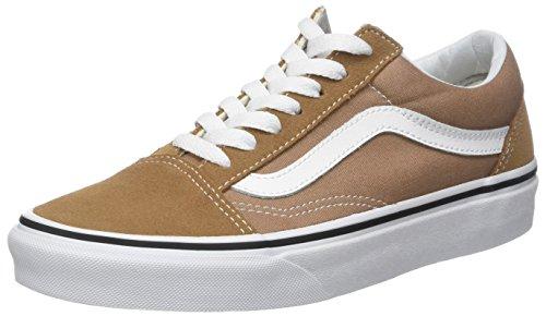 Vans Unisex-Erwachsene Old Skool Suede/Canvas Sneaker, Braun (Tiger's Eye/True White), 42.5 EU