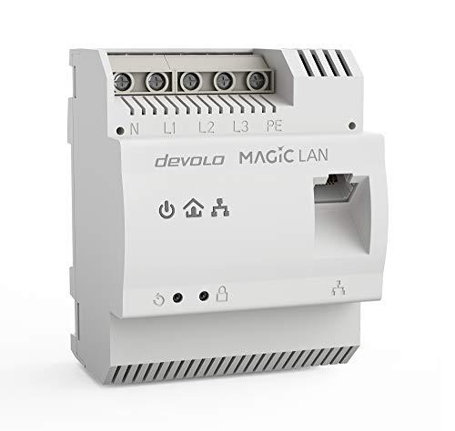 Devolo Magic 2 LAN DINrail: Powerline-Hutschienen-Adapter zur optimalen Verteilung von Internet über die Stromleitung im ganzen Haus, Highspeed-Internet aus dem Verteilerkasten, G.hn-Technologie, 8550