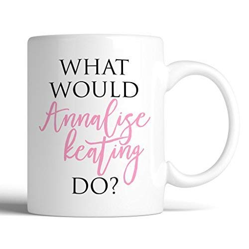 LINNJ Boccale Birra HTGAWM What Would Annalist Keating Do? 11oz Ceramic Coffee Mug | How to Get Away with Murder