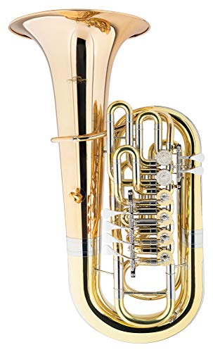 Lechgold FT-15/6L F-Tuba - Material: Messing/Goldmessing - Schallbecher: 400 mm - konische Bohrung: 19,6-21,2mm - inkl. Koffer - lackiert