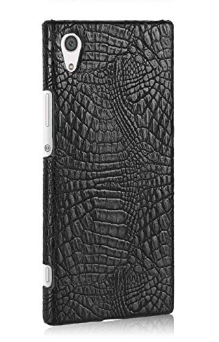 Cellshell Bright PU Leather Hard Back Case Cover for Sony Xperia XA1 - Black