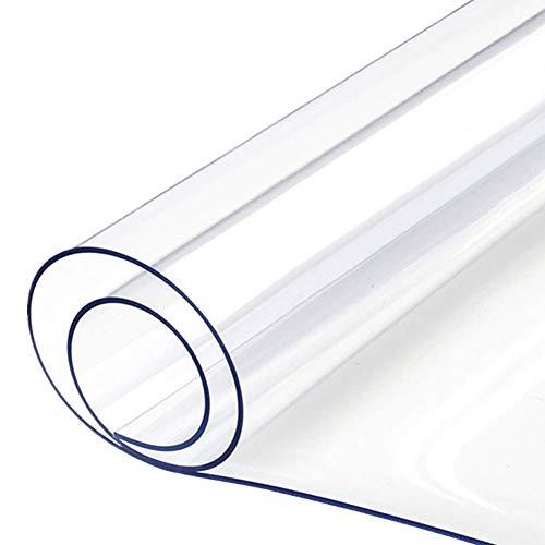 WUZMING-Bodenschutzmatte, Hohe Schlagfestigkeit, rutschfeste PVC-Matten Büro Zu Hause, Transparent Teppich- / Bodenschutzfolie, 20 Größen, Anpassbar (Color : 1.5mm, Size : 60x60cm)
