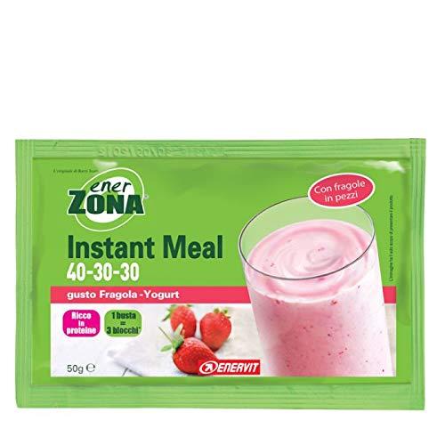 Enervit Enerzona Instant Meal Sostitutivo del pasto Box 20 X 50 gr (Fragola Yoghurt)