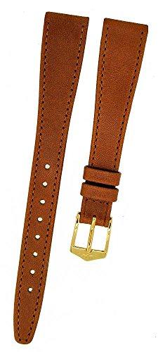 Orig. FORTIS Orologio Bracciale in pelle marrone con fibbia oro 14mm...
