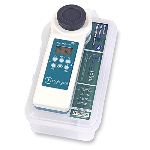 POOL Total 13 in 1 MultiTest PRO Photometer - PoolLAB® 1.0 Elektronischer Wassertester Photometer für Pool und Whirlpool inkl. Ersatz-Küvette