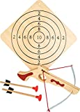 small foot 5036 Sportarmbrust aus Holz, inkl. Zielscheibe und zwei Pfeilen, Sportartikel / Schießspiel, ab 5 Jahre