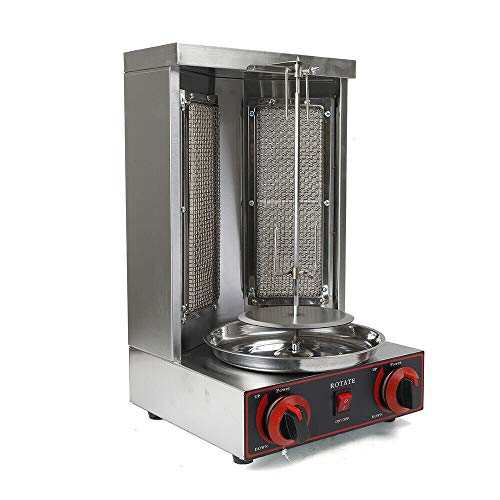 3000W 220V LPG Gas Döner Kebab Maschine Gas Döner Kebab Grill Dönergrill Gyrosgrill Kebap Grill Dönergrill Tischgrill Döner BBQ Edelstahl