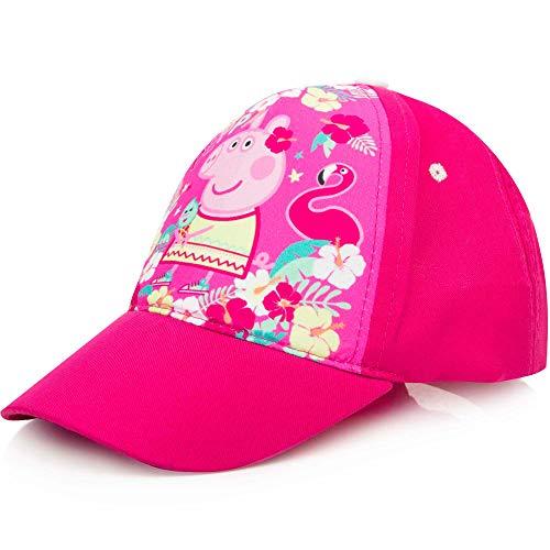 Peppa Pig Kinder-Cap Mädchen Basecap Kappe Sonnenhut Cap Baseball-Cap, Farbe:Pink, Größe:52