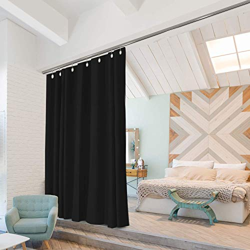 Room/Dividers/Now Ceiling Track Room Divider Kit - Medium A, 8ft Tall x 4ft 6in - 6ft Wide (Midnight Black)