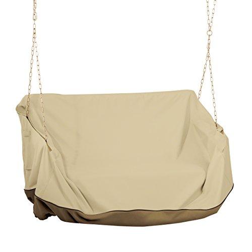 Classic Accessories 55-972-011501-00 Veranda Water-Resistant 56 Inch Porch Swing Cover,Pebble,One Size