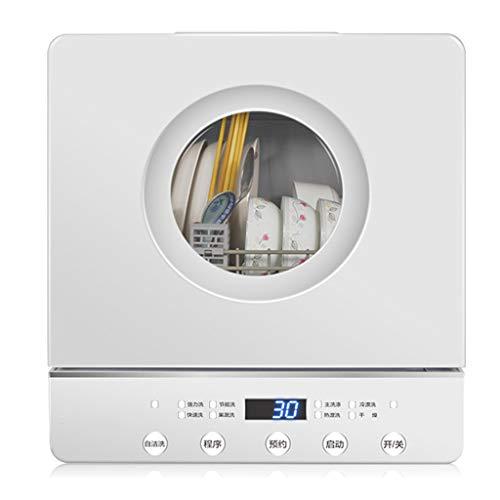 Handiy Lavavajillas de encimera automático Mini lavaplatos portátil, bajo Nivel de Ruido, 5 Modos de Lavado Inteligentes, Lavadora de Frutas y Verduras de Escritorio