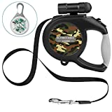 RCRuning-EU Flexi Correa para Perros Retráctil 8m, Correa Perro Extensible with Led Light,Dog Lead for Large Medium Small Pet Dogs Night Walking (Camouflage Green)