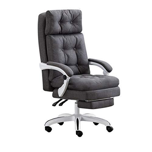 HMBB Sillas de escritorio, reclinables, silla jefe, silla reclinable de negocios, silla ejecutiva, cómoda mesa de computadora para el hogar y silla