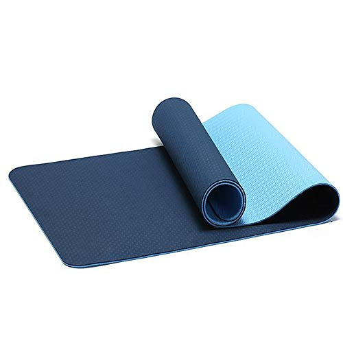 Home Gyms Yoga Mat Xn8 Non Esercizio Slittamento Yoga Mat-6mm-Thick-Carry-Bag-Pilates-Fitness (Color : Blue)
