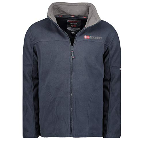Geographical Norway Herren TAMAZONIE Jacke Polar Outdoor Fleecejacke Winterjacke Navy / Dark Grey XXXL