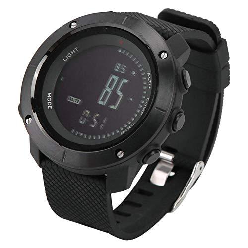 DAUERHAFT Reloj Multifuncional, cronómetro, brújula Digital Profesional, Reloj Deportivo, Temporizador de Cuenta atrás, altímetro, Impermeable para Exteriores