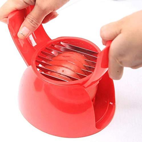 COOLSHOPY Cortador de tomate, cortador de verduras, cortador de verduras, para cocina, verduras y frutas